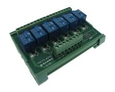 6CH 6 Channels 12VDC Relay Board PLC DIN Rail Mounting PNP