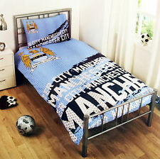 Manchester City FC Single Duvet Bedding Set Official Man City Football Club Item
