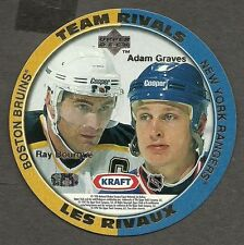 1996-97 Kraft Peanut Butter NHL Disc, Bourque & Graves, Cunneyworth & LaFontaine