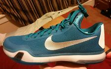 NIKE Kobe X 10 / Turquoise / White / Silver / Men's Shoes / Size 12.5