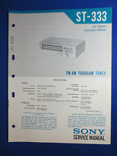 SONY ST-333 TUNER SERVICE MANUAL FACTORY ORIGINAL FACTORY ISSUE
