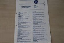 174769) Hymer Eriba - Händlerverzeichnis - Prospekt 1977