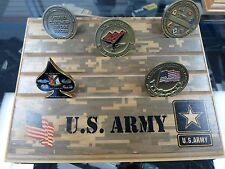 Millitary Challenge Coin Holder/Display 7x9 Army Star