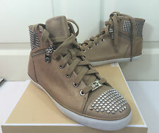 NEW MICHAEL KORS BOERUM Studded High Top Sneakers Size 7.0 ~MSRP $265 !!