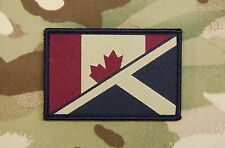 Subdued Canada/Scotland Maple Leaf/St. Andrew's Flag Patch Saltire JTF2 UKSF