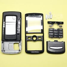 KEYPAD + COVER + LENS+CHASSIS FULL HOUSING FOR SONY ERICSSON K750 K750i #BLACK