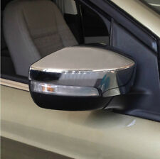 Chrome ABS Mirror (with LED hole ) Cover plated fit Ford Escape 2013-2016