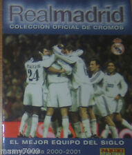 ALBUM PANINI=REAL MADRID=VUOTO/EMPTY=2000/2001=