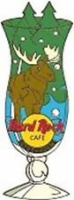 Hard Rock Cafe STOCKHOLM 2002 HURRICANE GLASS Series PIN with Moose & Trees