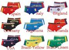 9 Colors Sexy Sport Cotton Boxer Man Country Flag Underwear Mens Brief M,L,XL