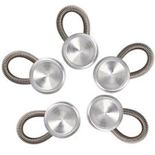 Set of 5 Collar Button Extenders Expanders with Flexible Spring for Dress Shirts