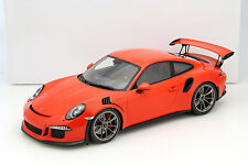Porsche 911 (991) GT3 RS lava orange mit Vitrine 1:12 Spark