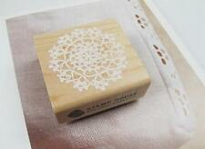 Big Round Lace Wooden Stamp Rubber Craft Favour Scrapbooking Wedding
