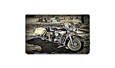 1965 Flh Electra Glide Bike Motorcycle A4 Retro Metal Sign Aluminium