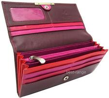 Ladies Purse Wallet Real Leather Soft Purple/Multi Visconti New in Gift Box R11
