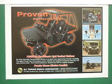 8/2006 PUB ATV ALL TERRAIN VEHICLE ORANGE PROWLER SPECIAL FORCES US ARMY AD