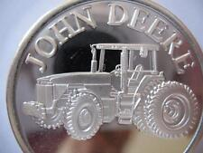 1-OZ  RARE JOHN DEERE TRACTOR MODEL 8400  ENGRAVABLE .999  SILVER COIN + GOLD