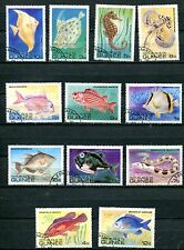 GUINEA 1980 TROPICAL FISH SET OF 12 STAMPS - $4.90 VAL!