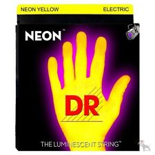 DR Strings NYB-40 HiDef Neon Yellow Lite Light Coated Electric Bass 40-100