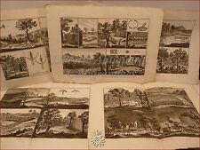 CACCIA DIDEROT/Panckoucke 1780 Set di 5 tavole doppie TRAPPOLE Arte venatoria