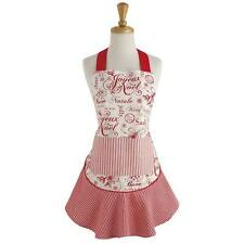 NWT DII  100% Cotton  Adult size  Red Cream White Retro VINTAGE CHRISTMAS APRON