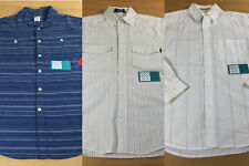 Lot of 3 Striped Button Up Shirts: Mossimo Matix Marc Johnson Pro Series M S