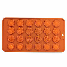 Silicone - Chocolate Mould Tray Round Icing Craft Cake Jelly Baking Ice Flowers