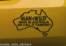 New 150mm Funny Aussie BNS offroad 4x4 ute Camping Car Stickers MAN vs WILD