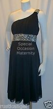 New Black Rhines Band Dress Bolero Shoulder Maternity LARGE Special Cocktail NWT