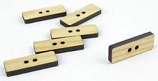 Tajadera grandes botones de madera 30mm/rectangle shape/laser cut/beads/sewing / Manualidades
