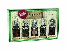 Great Minds Set of 5: Puzzle Compendium 3 Wooden and 2 Metal Puzzles