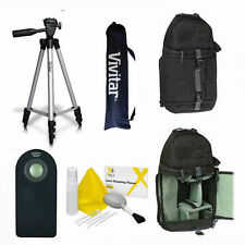 "VIVITAR PHOTO 50"" TRIPOD + BACKPACK + REMOTE FOR SONY ALPHA DSLR CANON EOS REBEL"