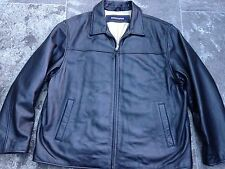 LEVI'S DOCKERS BLACK LEATHER JACKET SIZE XL VERY GOOD CONDITION!!!!!!