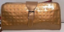 ARCADIA Gold PATENT LEATHER Handbag Purse Satchel  ITALY EXCELLENT