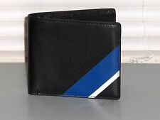 POLO RALPH LAUREN $128 Men's Bifold Leather Wallet, Black, 8 Pocket, NWT, NIB