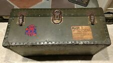 WW2 Era USAF pilot Samson Shwayder Bros. Military Footlocker chest luggage Lt