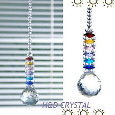 1 Rainbow Suncatcher Cut Crystal Ball Pendulum Lamp Prisms Pendants Drops 30mm