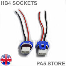 2x HB4 Wired Socket Ceramic Bulb Holders LED HID XENON 12v Fog Head light 9006