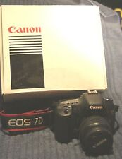CANON EOS 7D OUTFIT WITH 18-55mm LENS, REMOTE, BATTERY GRIP, HOODMAN & MORE