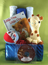 Personalized Lullaby CD Baby Gift Basket- All Handmade Items - Baby Shower Gift