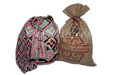 """AUTHENTIC LARGE  MOCHILA WAYUU  BAG"" GOOD QUALITY - HANDMADE + FREE KEY CHAIN"