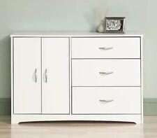 3 Drawer Dresser Chest Cabinet Storage Organizer White Bedroom Furniture New