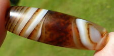 NEWLY CREATED HIMALAYAN BANDED AGATE BEAD.  CHUNG dZi from NEPAL. FINE QUALITY