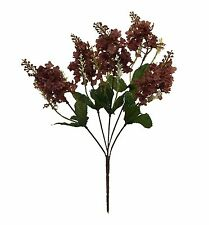 5 LILAC BLOOMS ~ CHOCOLATE BROWN ~  Silk Wedding Flowers Bouquets Centerpieces