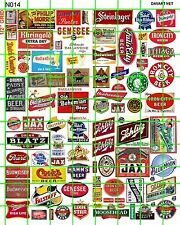 N014 DAVE'S DECALS N SCALE ASSORTED BEER SIGNAGE BUILDING ADVERTISING LOGOS MORE