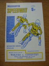 10/09/1971 Speedway Programme: Wolverhampton v Coventry  (Results Noted Inside).