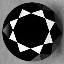 1.38CT FINE QUALITY SPARKLING FROM EVERY ANGLE NATURAL BLACK DIAMOND REFER VIDEO