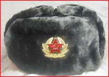 Russia Soviet Grey Soldier Chapka Ushanka  Sizes 62-63-64 = XXL