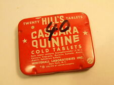 Older used Hills Cassara Quinine Cold Tablet tin (black marker price on face)