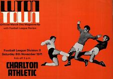 1971/72 Luton Town v Charlton Athletic, Division 2, PERFECT CONDITION